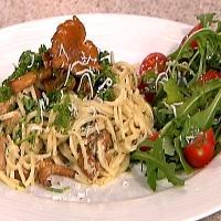 Fersk pasta med kantareller -