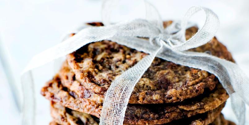 Havre- og sjokoladecookies - Havrekaker med mørk sjokolade. Kan det bli særlig bedre?