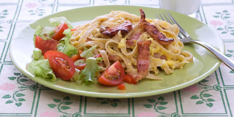 Pasta carbonara - Dette er en av de store pastaklassikerne. Med god grunn!