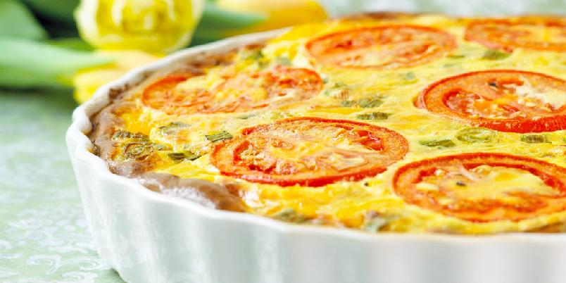Middelhavspai - Denne paien er inspirert av middelhavskjøkkenet, og inneholder blant annet fetaost og timian. Godt salt er deilig følge.