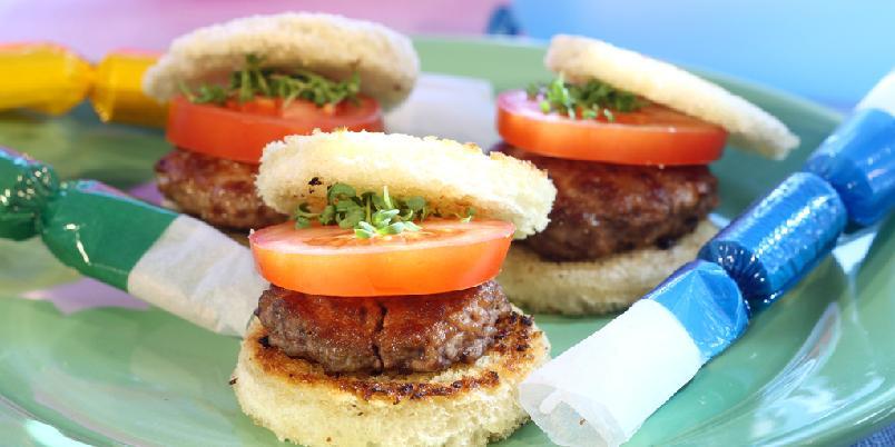 Deilige minihamburgere - Enklere burgere enn dette er vanskelig å finne.