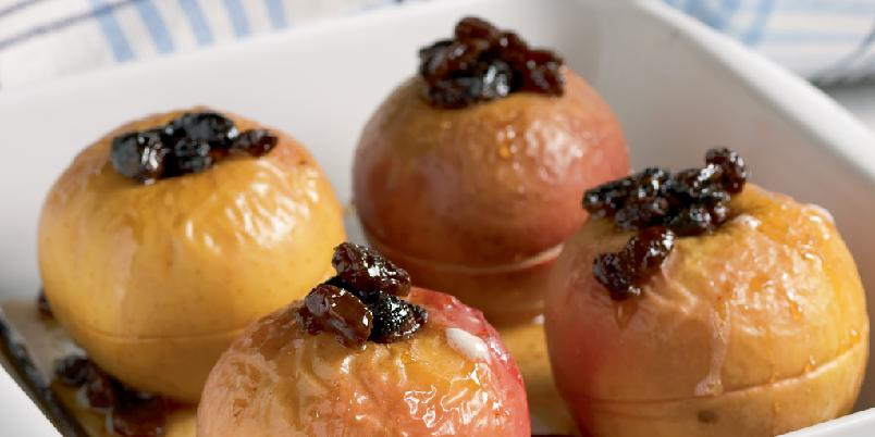 Ovnsbakte epler med vaniljesaus - Her er Wenche Andersens oppskrift på bakte epler med vaniljesaus. Sulten?