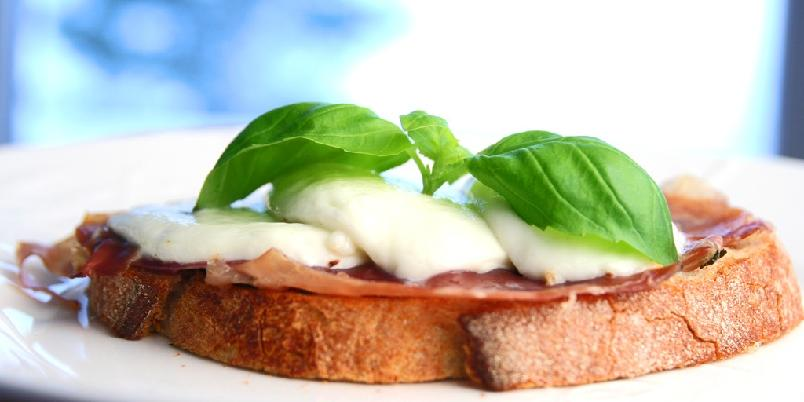 Italiensk ostesmørbrød - Dette er rask middag eller veldig, veldig god lunsj.