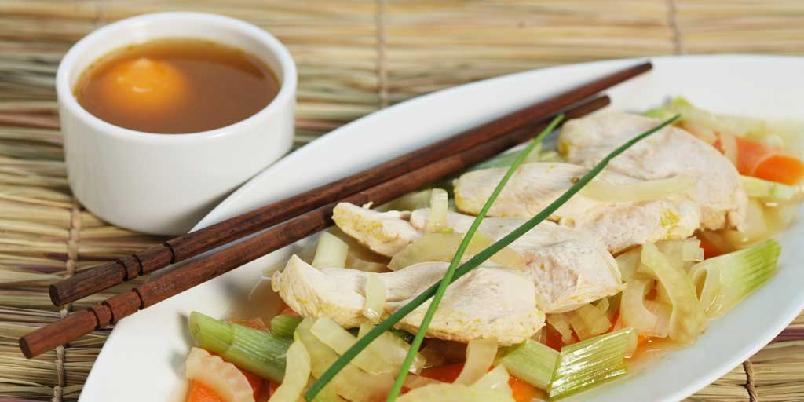 Kyllinggryte med teriyaki - Dette er en kyllinggryte inspirert av det japanske kjøkken, hvilket vil si gode grønnsaker og masse smaker, særlig av teriyaki og fennikel.