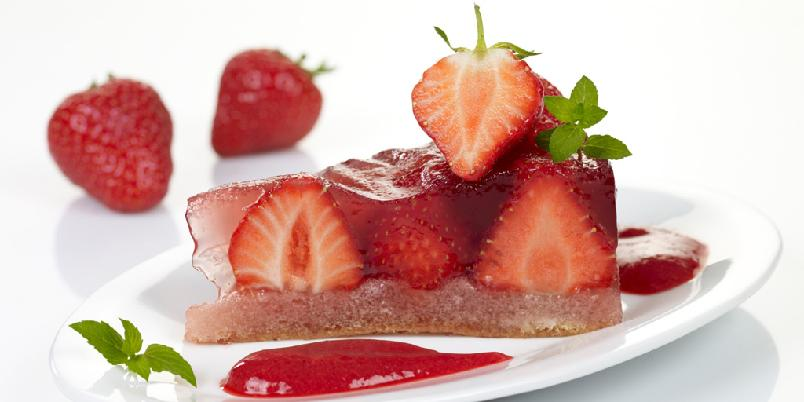 Jordbærgelékake - Den ser veldig kul ut den jordbærgelékake, ikke sant?