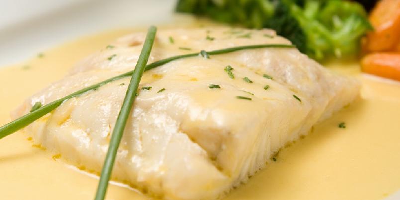 Beurre blanc (ifølge Larousse Gastronomique) - Dette er den klassiske oppskriften på beurre blanc.