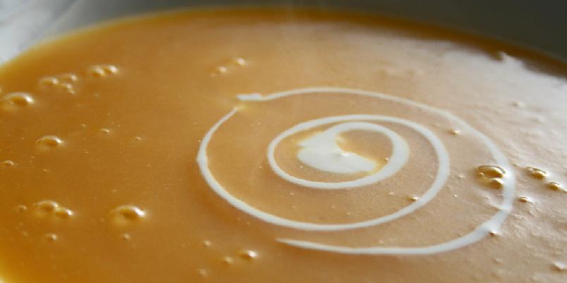 Gresskarsuppe - Det er ikke skummelt med gresskarsuppe.