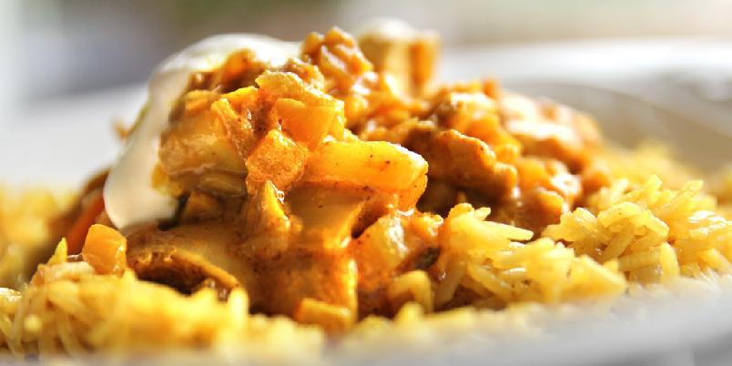 Biryani - indisk kyllingrett - Dette er en indisk rett som smaker akkurat slik indisk mat skal smake. intenst og spennende.