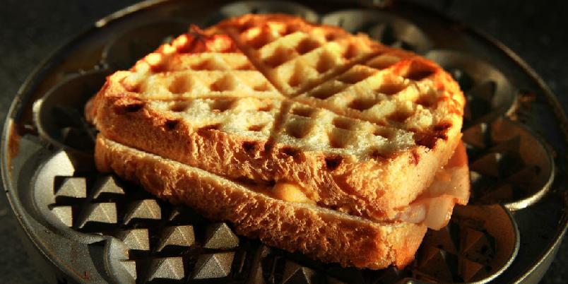 Sandwich med vaffeljernet - Vaffeljernet fungerer utmerket når du skal lage deg en toast.