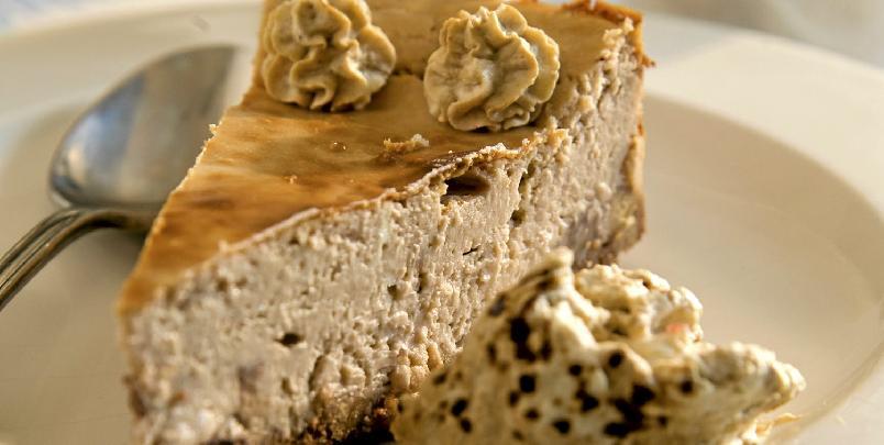 Ostekake med kaffesmak - Her kommer en deilig ostekake med kaffesmaker.