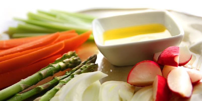 Italiensk grønnsaksfat - Enklere forrett kan neppe tenkes.