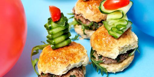 Minihamburgere - Hamburgere i barnestørrelse.