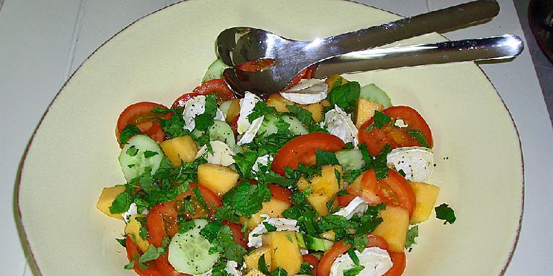 Sommersalat med melon og agurk - Dette er en salat for gode sommerdager.