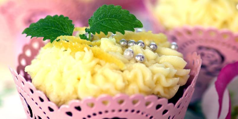Cupcake med sitron - Dette er redaktør i Norsk Ukeblad, Kjersti Moen, sin favoritt-cupcake.