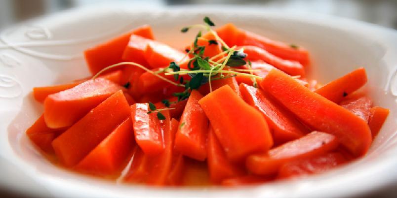 Glaserte gulrøtter - Slik glaserer du gulrøtter.