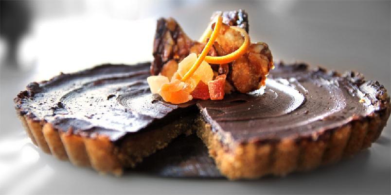 Sjokoladeterte med karamell - Dette er en sjokoladekake som er litt utenom det vanlige...