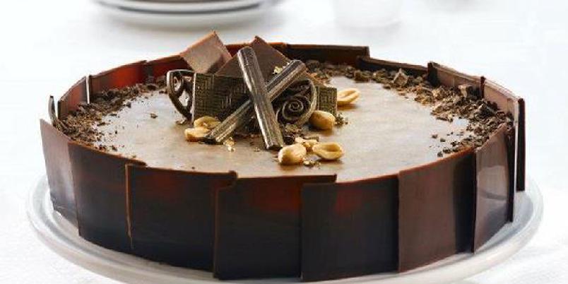Gullkake - Sjokoladekake med gull...