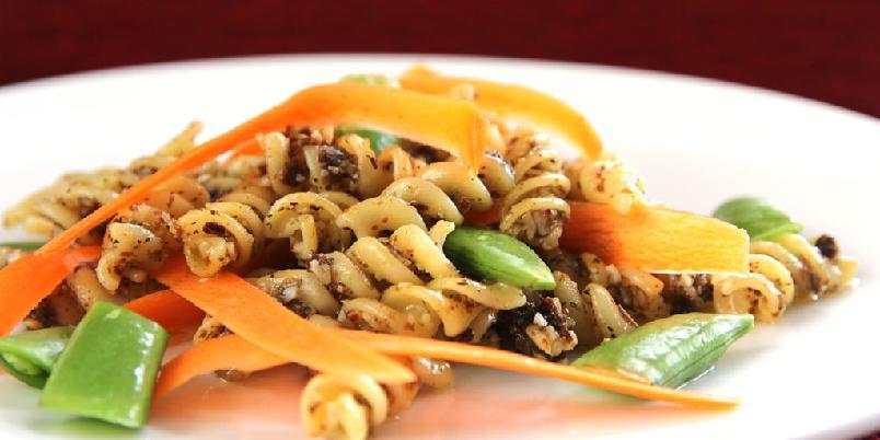 Pasta med nøtter - En enkel og kul pastarett som kan bli middagen din.