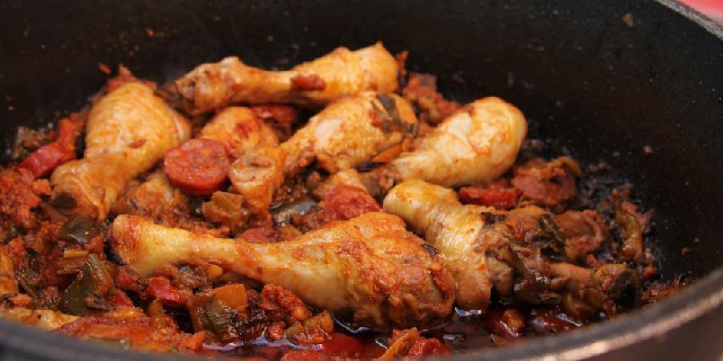 Kyllinggryte med chorizo - Det er enkelt og supergodt.