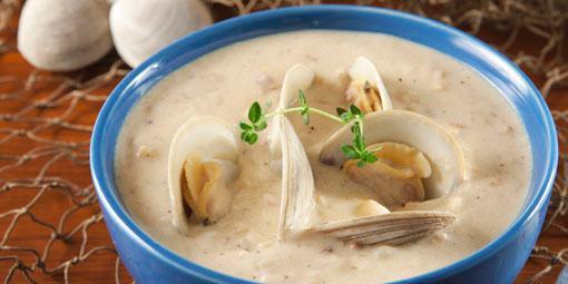 Hjerteskjellsuppe fra New England - Nydelig suppe som du enkelt lager om du har klart å få tak i hjerteskjell.