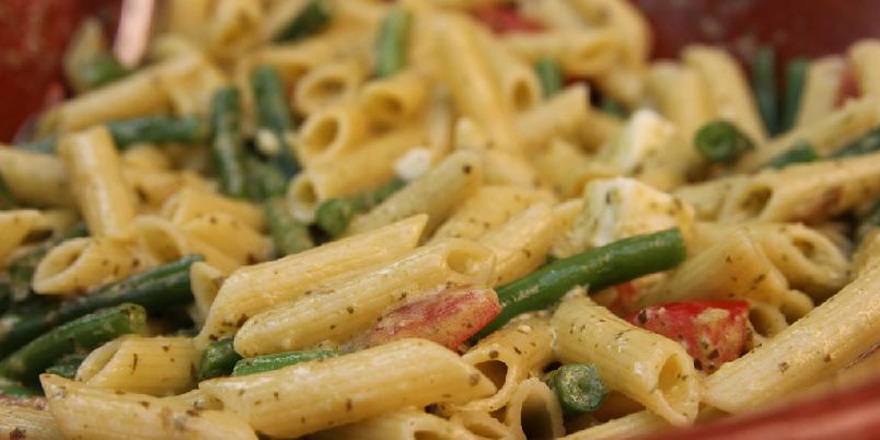 Enkel pasta med chorizo - En enkel pastarett du lager på noen få strakser...