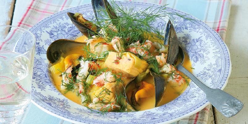 Fiskesuppe med fennikel og safran -