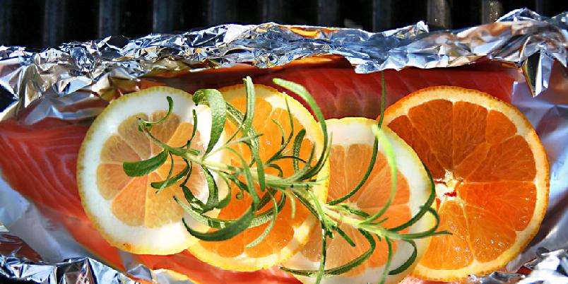 Laks i folie med sitron- og appelsinskiver - Ovnsbakt laks på sitt beste. Like godt som det er genialt!