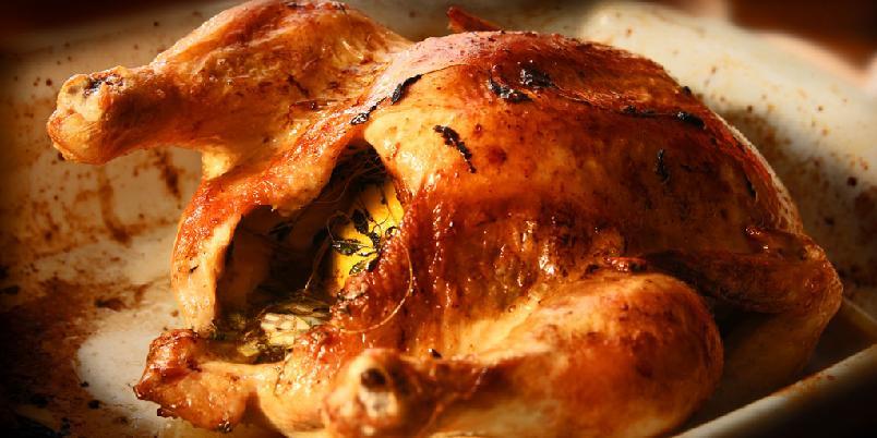 Ovnsstekt kylling - Dette er den beste måten å helsteke en kylling på.
