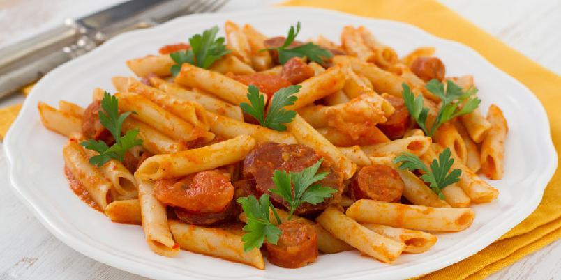 Pastasaus med chorizo - Denne retten dufter Italia.