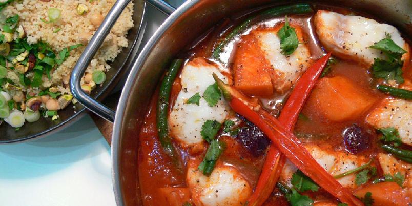 Marokkansk fiskerett - Denne fiskeretten henter krydderiene fra Nord-Afrika.