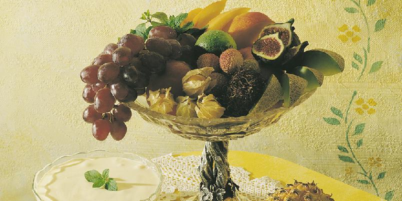 Portvinsråkrem til fruktsalat -