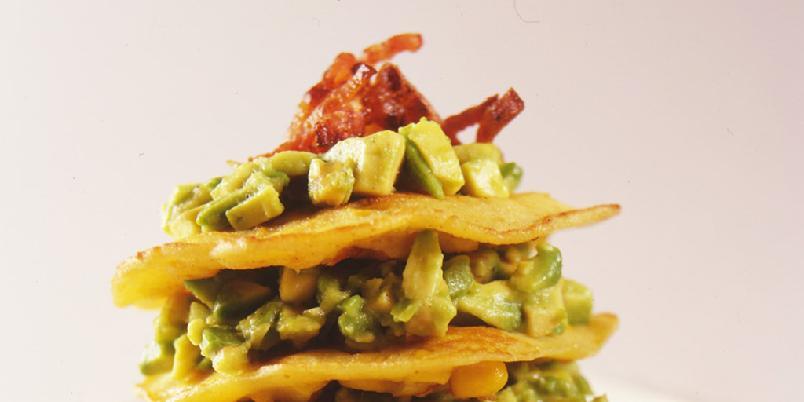 Maislapper med guacamole -
