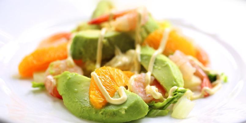Appelsin med avokado og reker - Denne retten er perfekt for late dager. Om du kan lage appelsinfileter går det også uhyre raskt.