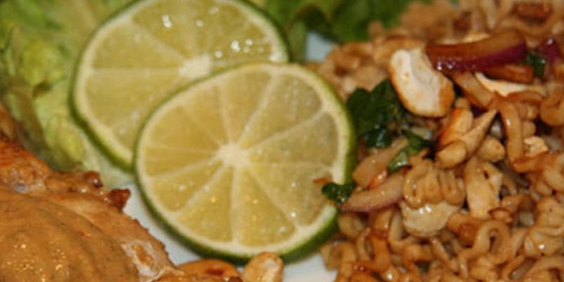 Kylling sataya med nudelsalat - En av de beste kyllingrettene som finnes