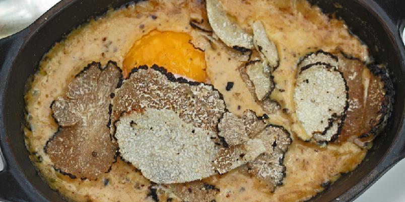 Brouillade - Dette er en klassisk måte å lage egg og trøffel på.