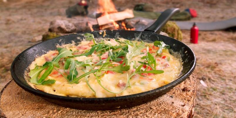 Ostepanne med sopp og brokkoli - Et herlig alternativ til rask og god turmat for store og små. Krever litt forarbeid før turen.