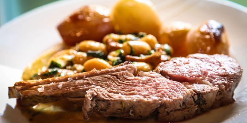 Lammecarré - Lammecarré er en flott stykningsdel med mørt og smaksrikt kjøtt. I denne oppskriften finner du også sopp og saus.