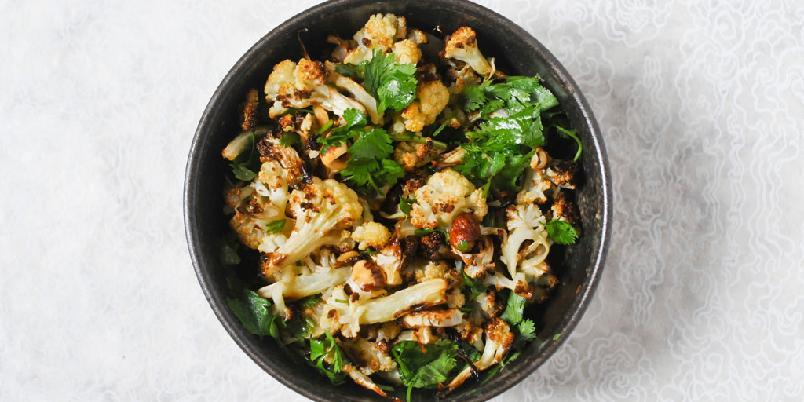 Blomkålsalat med veganermajones - Du har neppe spist blomkål på denne måten før. Ikke linfør heller.