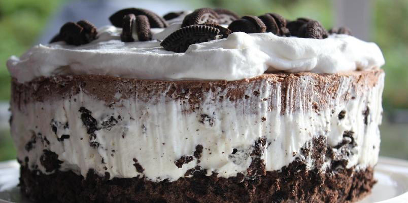 Oreokake - Dette er en svært populær kake for store og små.