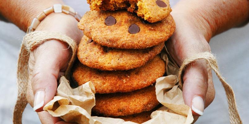 Sjokoladekjeks med gresskar - Dette er med hånden på hjertet de mest luftige cookiesene jeg har laget noen gang.