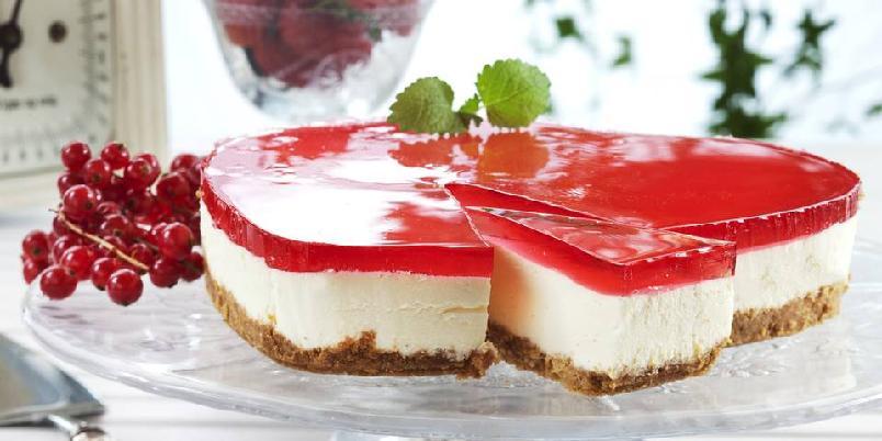 Fargerik ostekake - Denne ostekaken er enkel å lage!