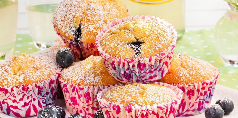 Blåbærmuffins - Dette er en deilig oppskrift på saftige blåbærmuffins.
