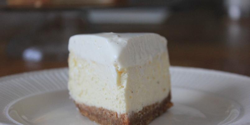 New York cheesecake - Klassisk, amerikansk ostekake bakt i ovnen.
