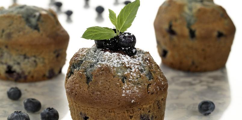 Blåbærmuffins - Lag deilige muffins med blåbær.