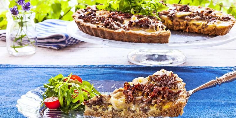 Pai med kjøttdeig - En sikker vinner på middagsbordet.