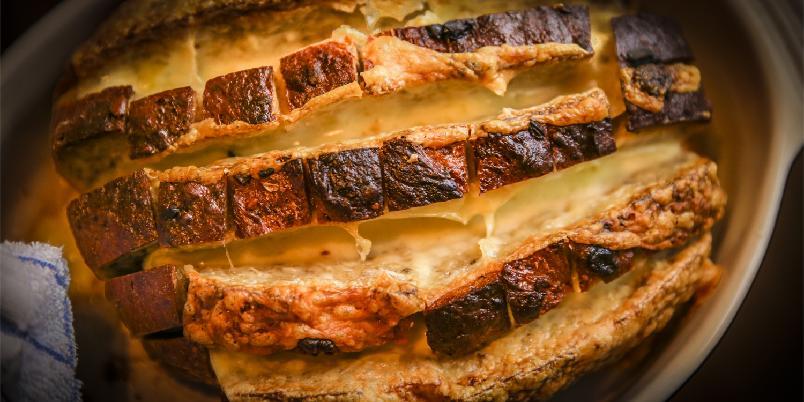 Ostebrød med hvitløk - Enkel mat litt mange sultne.