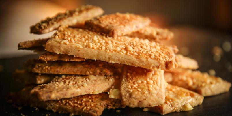 Parmesankjeks - Det er ikke lett å finne bedre ostekjeks.