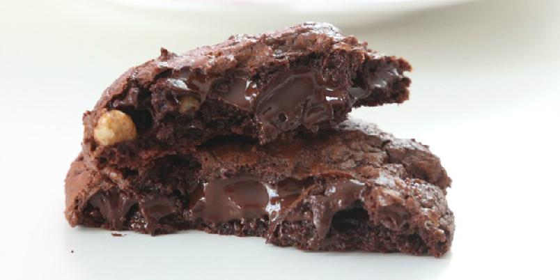 Chocolate Chocolate Chip Cookies - Liker du chocolate chip cookies, og er glad i sjokolade, så kommer du til å elske disse...