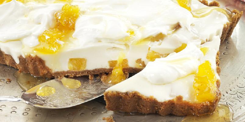Yoghurtostekake med ananas - Frisk og deilig ostekake med yoghurt og ananas!
