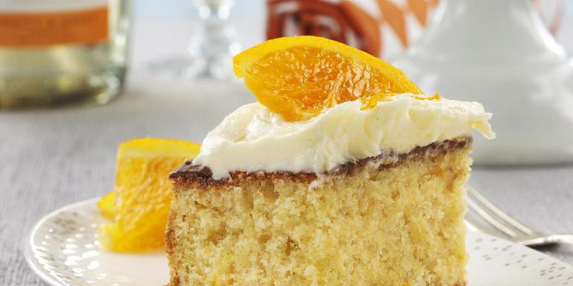 Appelsinkake - Denne myke kaken har en frisk smak av appelsin.